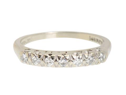 Seven Diamond Vintage Wedding Ring