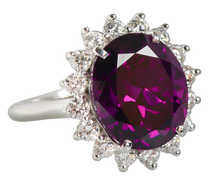 Divine Purple Garnet Diamond Ring