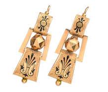 Victorian Basse Taille Enamel Earrings