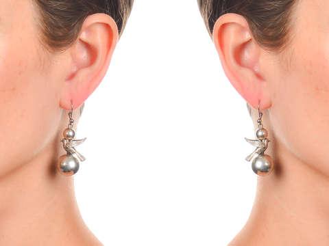 Freedom - Victorian Silver Bird Earrings