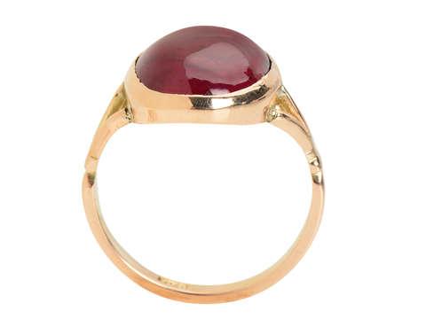 Antique Cabochon Garnet Ring