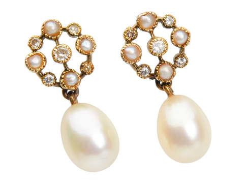 Cultured Pearl Dangle Earrings