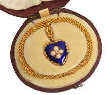 Victorian Love Knot & Heart Pendant Chain in Box