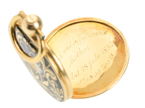 A Mother's Love - Pansy Memorial Locket of 1834