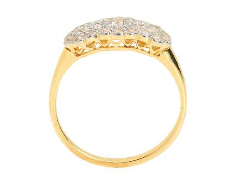 Antique Triple Cluster Diamond Engagement Ring