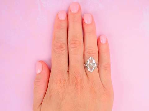 Love Birds, Moon & Planet Rock Crystal Ring