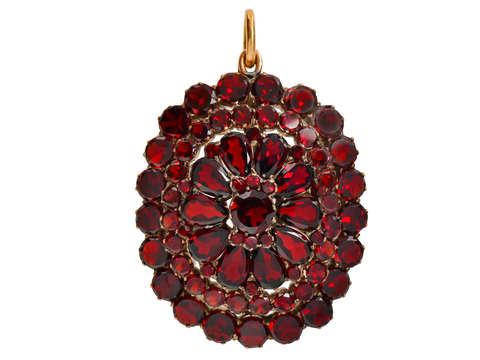 Victorian Bohemian Garnet Locket