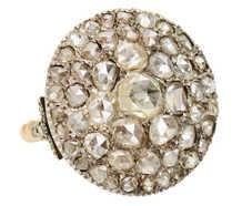 Lavish Georgian Rose Cut Diamond Cluster Ring