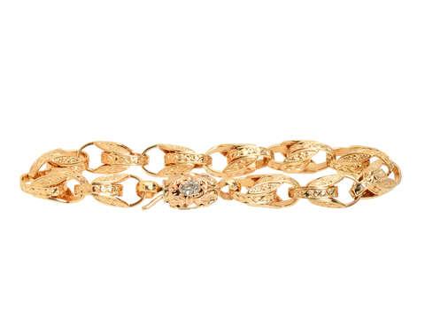 Victorian Aquamarine & Gold Link Bracelet