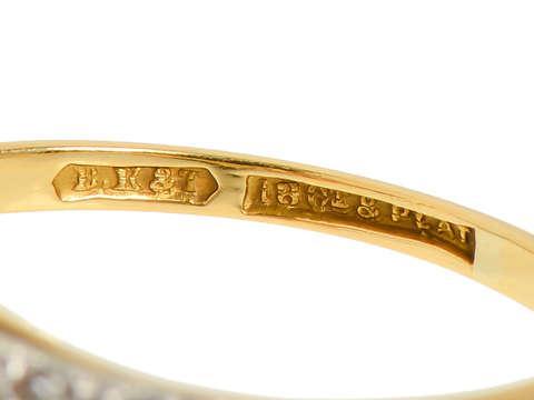 Edwardian Diamond Platinum & 18k Engagement Ring