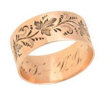 Ivy Leaf Rose Gold Wedding Ring of 1898