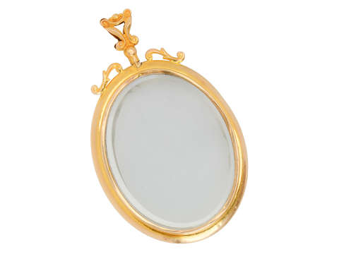 Large Double Sided Picture Locket of Gold