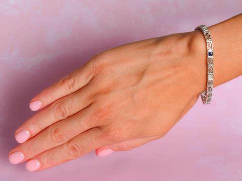 Art Deco Filigree Link Bracelet