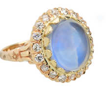 Bluer Than Blue - Moonstone Diamond Ring