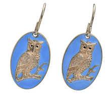 Owl Wise - Vintage Enamel Earrings