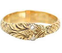 Ouroboros Georgian Snake Ring With Diamond Eyes